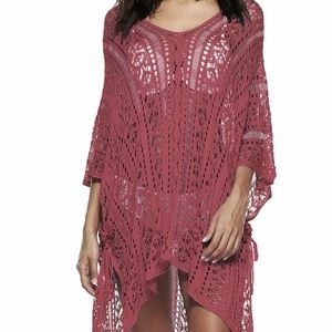 Dresses & Skirts - Women summer hollow out v-neck loose beach dress